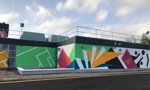 The new mural at Get active @ Sheddocksley by Kekun Studio