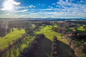 drone photo over Hazlehead golf courses