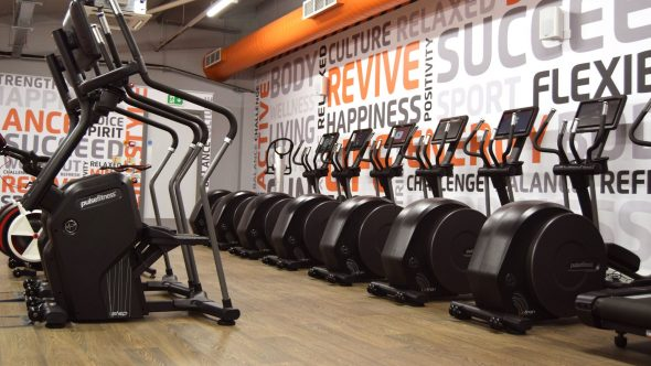 Jesmond fitness studio with a line of exercise bikes