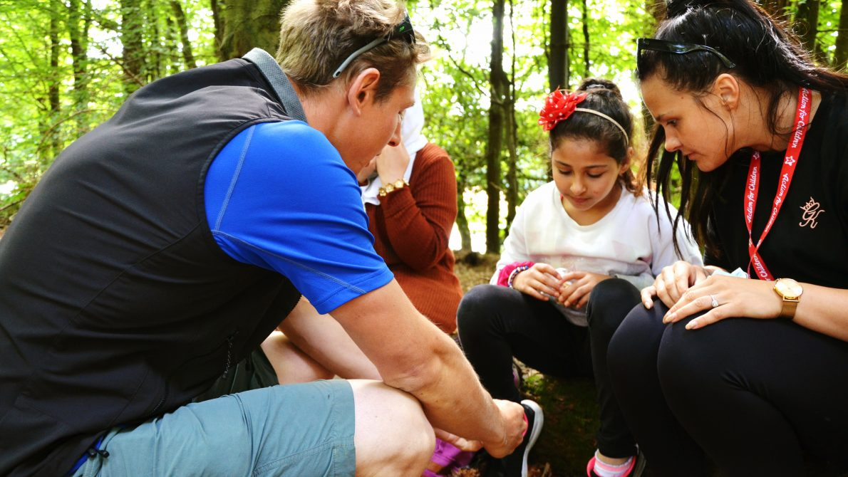 Active families fund wilderness skills forest walk